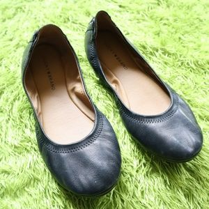 Lucky Brand Lace Back leather Ballet Flats 12